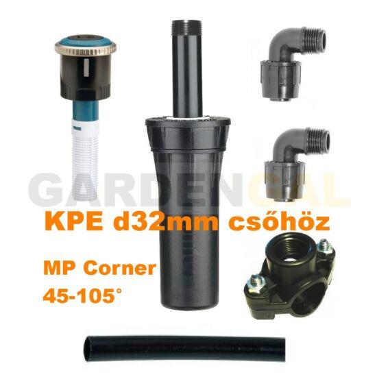 Hunter víztakarékos szórófej szett KPE d32 mm csőhöz  (MP Corner 45-105° fúvókával)