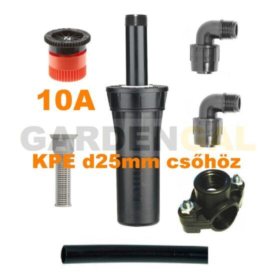Hunter esőztető szórófej szett KPE d25 mm csőhöz (10A Állítható Spray fúvókával)