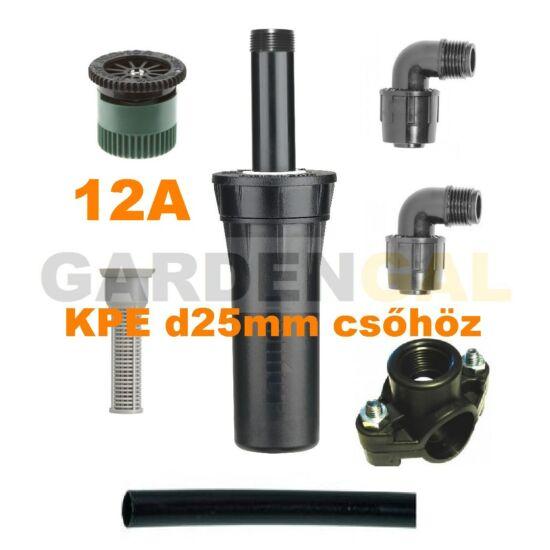 Hunter esőztető szórófej szett KPE d25 mm csőhöz (12A Állítható Spray fúvókával)