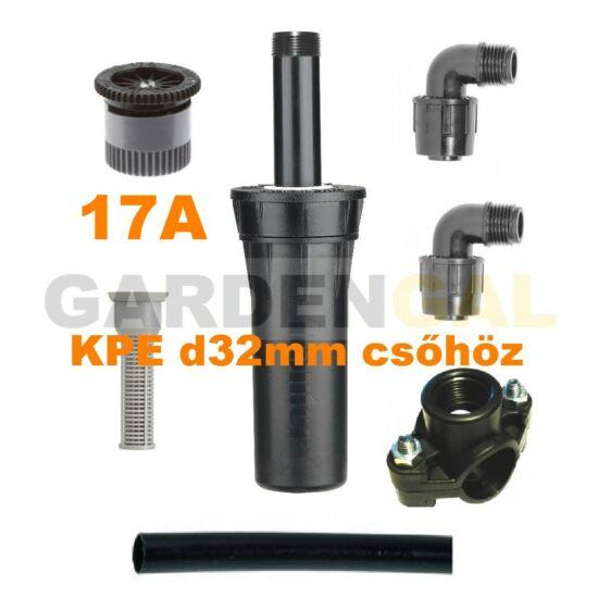 Hunter esőztető szórófej szett KPE d32 mm csőhöz (17A Állítható Spray fúvókával)