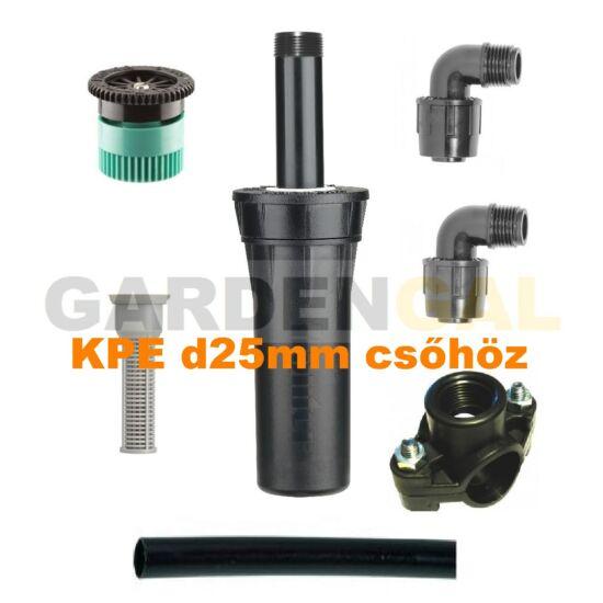 Hunter esőztető szórófej szett KPE d25 mm csőhöz (Állítható Spray fúvókával)