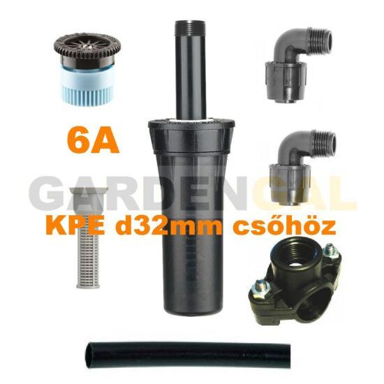 Hunter esőztető szórófej szett KPE d32 mm csőhöz (6A Állítható Spray fúvókával)