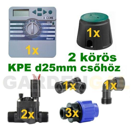 Beltéri vezérlő automatika szett 2 körös (KPE d25mm csőhöz)