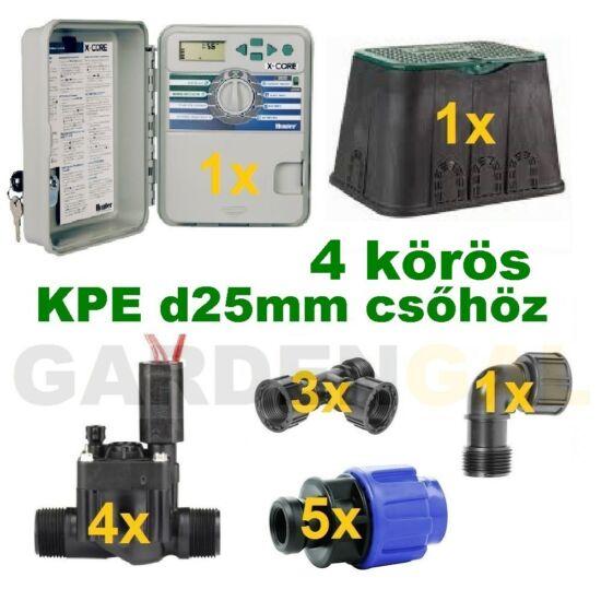 Kültéri vezérlő automatika szett 4 körös (KPE d25mm csőhöz)