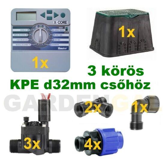 Beltéri vezérlő automatika szett 3 körös (KPE d32mm csőhöz)