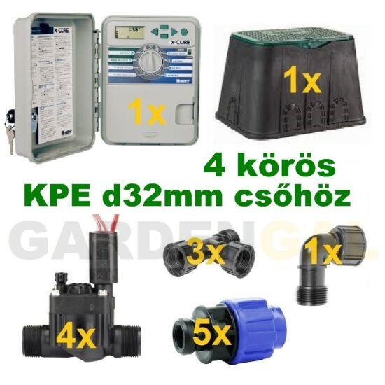 Kültéri vezérlő automatika szett 4 körös (KPE d32mm csőhöz)