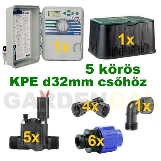 Kütéri vezérlő automatika szett 5 körös (KPE d32mm csőhöz)